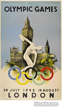 Poster 1948 Olympics in London