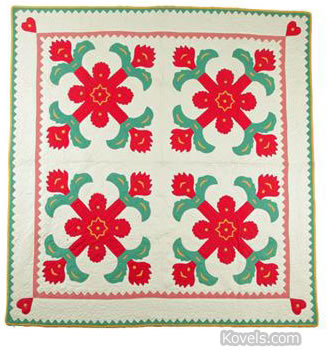 Appliqued quilt made c.1925
