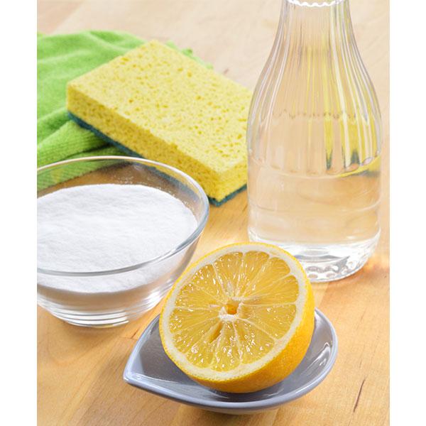 clean antiques with lemon vinegar salt tip