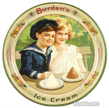 Ice cream advertising tray