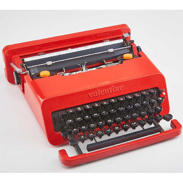 Typewriter designed by Ettore Sottsass