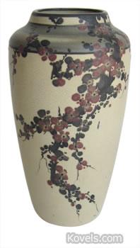 Weller Hudson vase with cherry blossoms