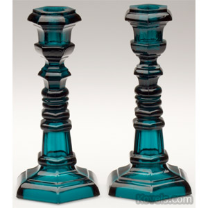 Pressed glass candlesticks