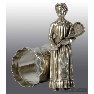 Tennis player napkin ring