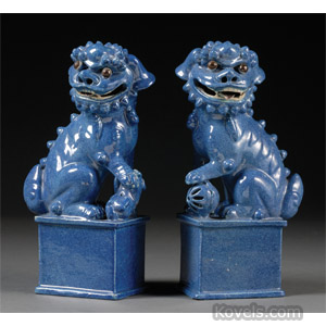 Chinese pottery foo dogs