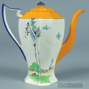 Shelley China Balloon Tree coffeepot