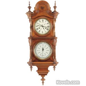 Welch Spring & Co. No. 5 regulator calendar clock