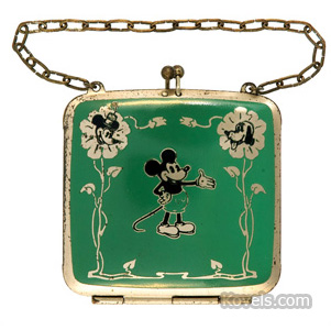 Mickey, Minnie and Pluto child's purse