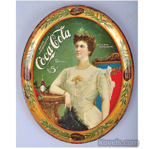 1905 Coca-Cola serving tray