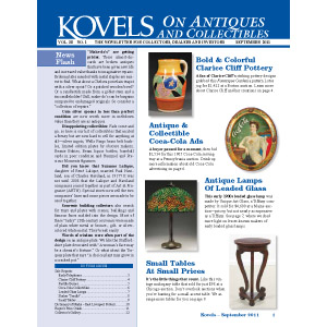Kovels on Antiques & Collectibles Vol. 38 No. 1
