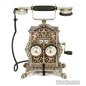 """Elektrisk Bureau Kristiania """"De Luxe"""" telephone"""