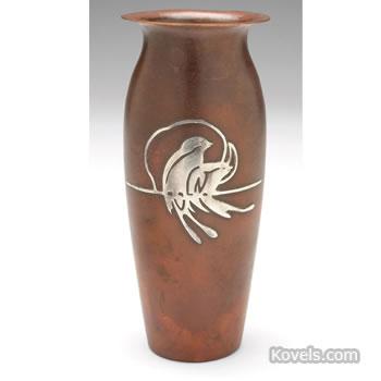 Silver Crest bronze vase