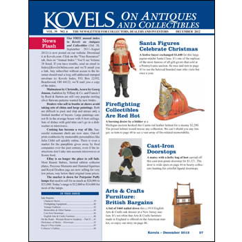 kovels on antiques and collectibles december 2012 issue