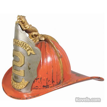 Cairns leather fire helmet
