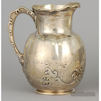 Whiting Manufacturing Co. sterling silver water pitcher