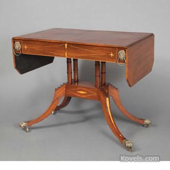 Regency-style sofa table