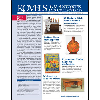 Kovels on Antiques and Collectibles Vol. 39 No. 1