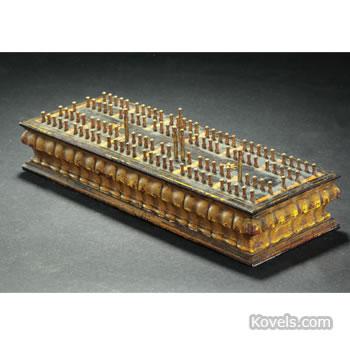 "John Gill patent ""Hedgehog"" cribbage board"