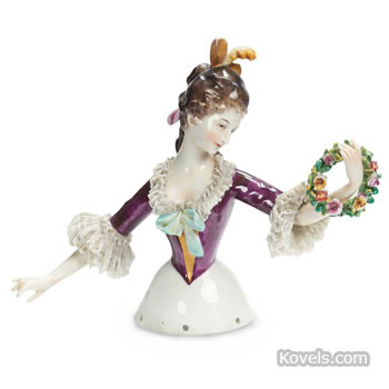 """Lady with Wreath"" half-doll"