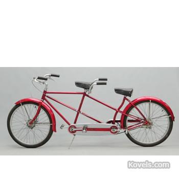 Circa 1954 Schwinn male-female tandem bicycle