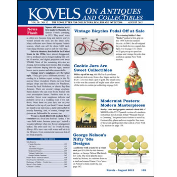 Kovels on Antiques and Collectibles Vo. 39 No. 12