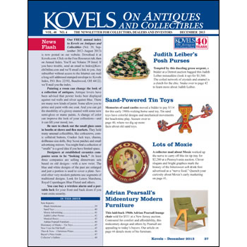 Kovels on Antiques and Collectibles Vol. 40 No. 4