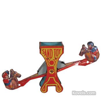 J. Chein rocking horse sand toy