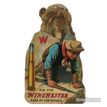 Winchester Cartridges advertising sign