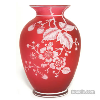 English cameo glass vase