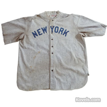 Babe Ruth New York Yankees road jersey