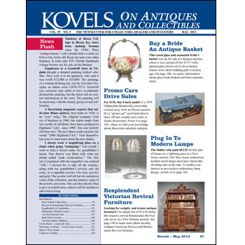 Kovels on Antiques and Collectibles Vol. 39 No. 9