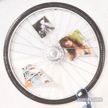 Bicycle wheel collage