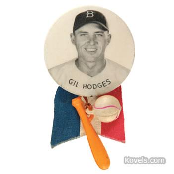 Gil Hodges Brooklyn Dodgers portrait button