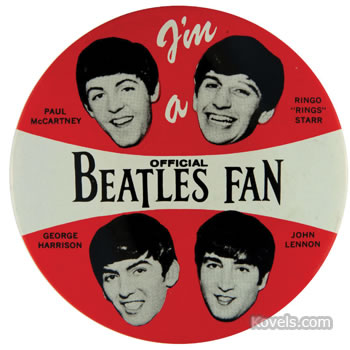 Beatles Fan pinback button