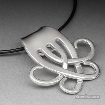 Silver flatware jewelry