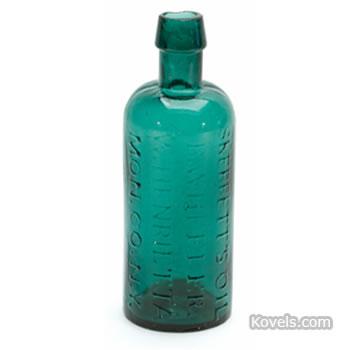 """""""Skerrett's Oil, B. Wheeler, W. Henrietta, Mon. Co., N.Y."""" medicine bottle"""