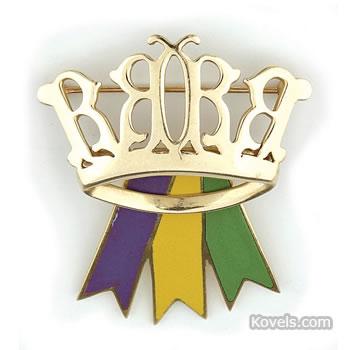 Mardi Gras Queen's crown pin