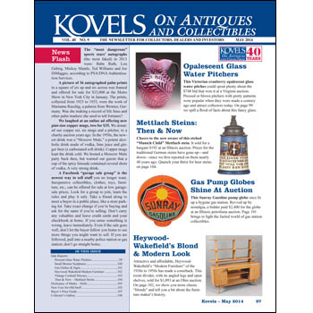 Kovels on Antiques and Collectibles May 2014