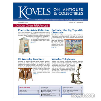 Kovels on Antiques & Collectibles -- February 2015 issue