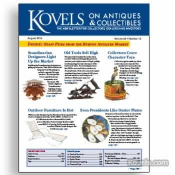 Kovels on Antiques and Collectibles Vol. 42 No. 12 – August 2016
