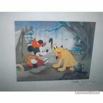Autographed Disney picture
