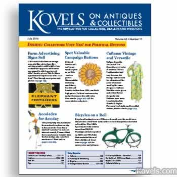 Kovels on Antiques and Collectibles Vol. 42 No. 10 – July 2016