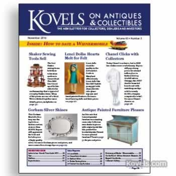 Kovels on Antiques and Collectibles Vol. 43 No. 3 – November 2016