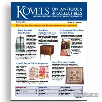 Kovels on Antiques and Collectibles Vol. 43 No. 2 – October 2016