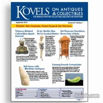 Kovels on Antiques and Collectibles Vol. 43 No. 1 – September 2016
