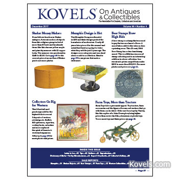 Kovels on Antiques & Collectibles Vol. 44 No. 4 – December 2017