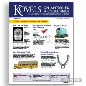 Kovels on Antiques and Collectibles January 2017 Newsletter Available
