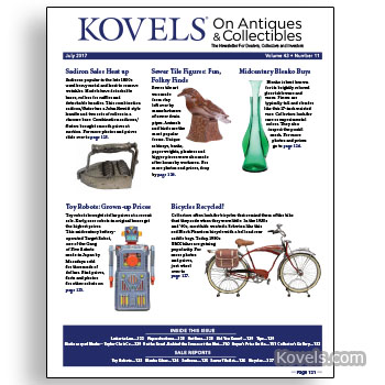 Kovels on Antiques & Collectibles July 2017 newsletter