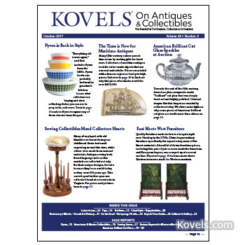 Kovels on Antiques & Collectibles Vol. 44 No. 2 – October 2017