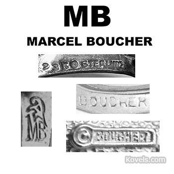 Boucher jewelry marks